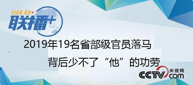 """2019年19名省部级官员落马 背后少不了""""他""""的功劳"""