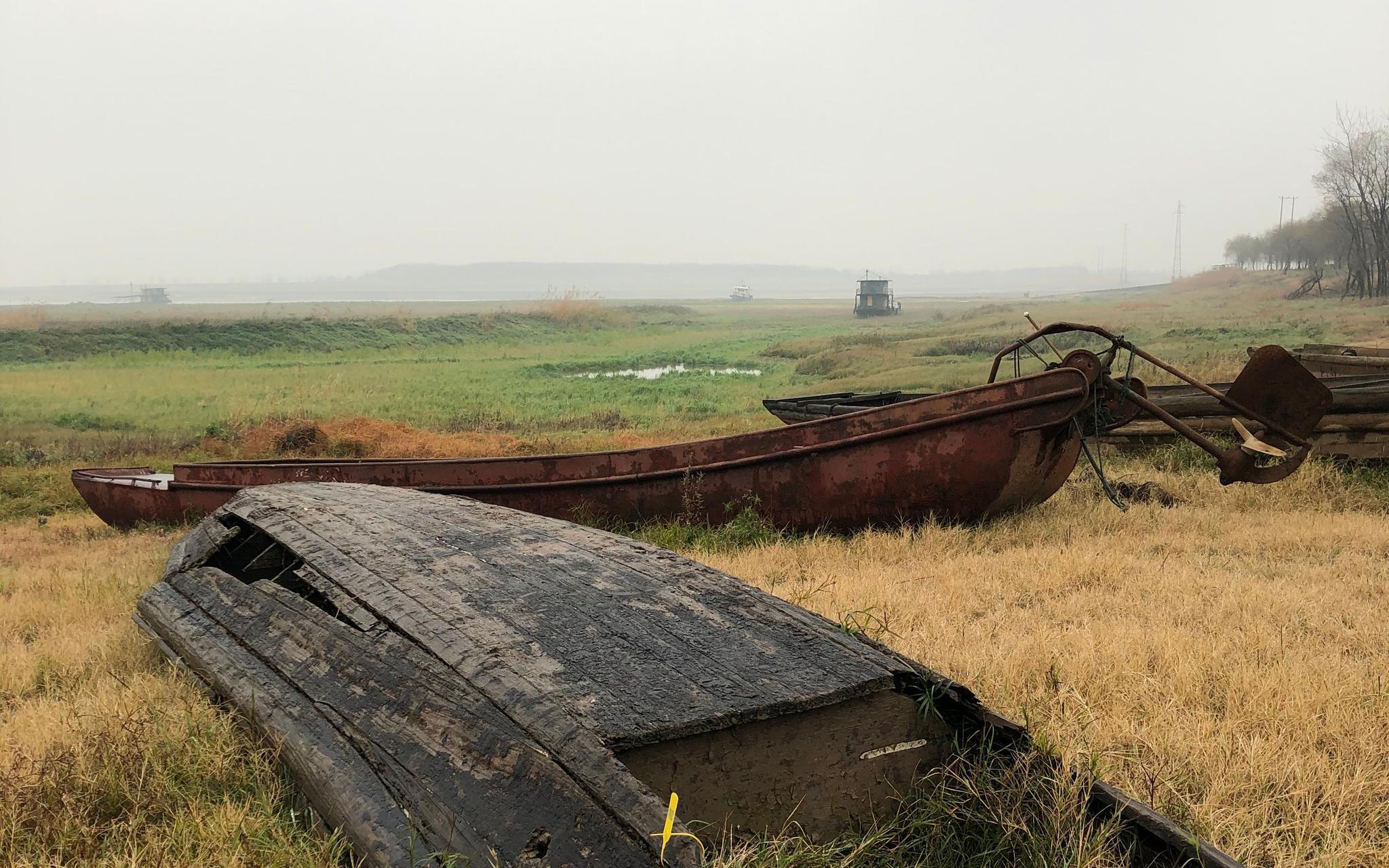 被评估后的渔船。新京报记者 韩沁珂 摄