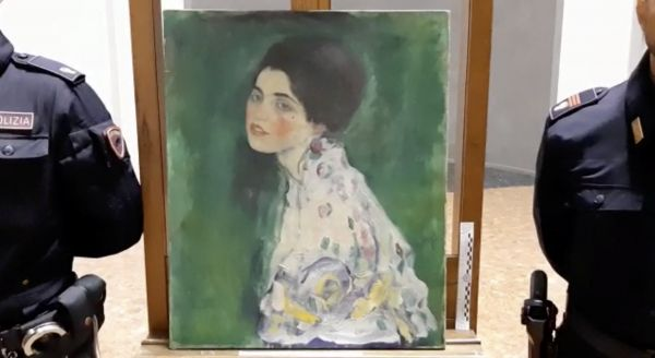 油画《女士肖像》(路透社)