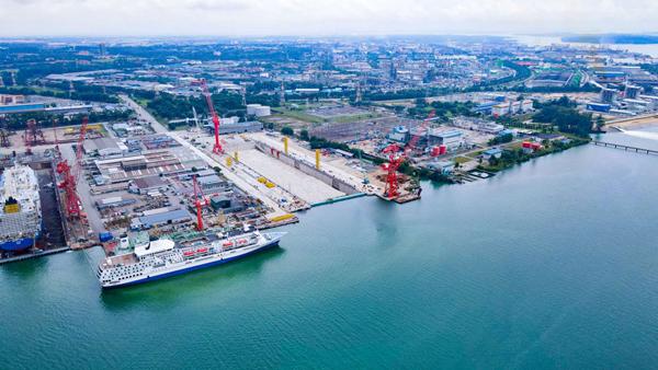 马来西亚海事重工三号船坞项目通过验收图片
