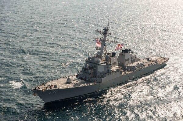 美海军阿利·伯克级导弹驱逐舰(美国《防务新闻》周刊网站)