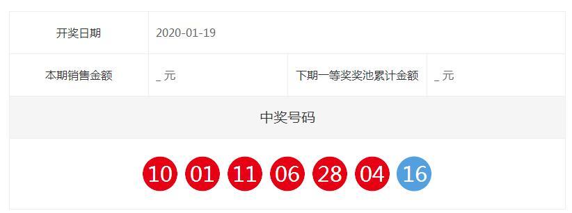 中国福彩双色球全国开奖公告(第2020008期)