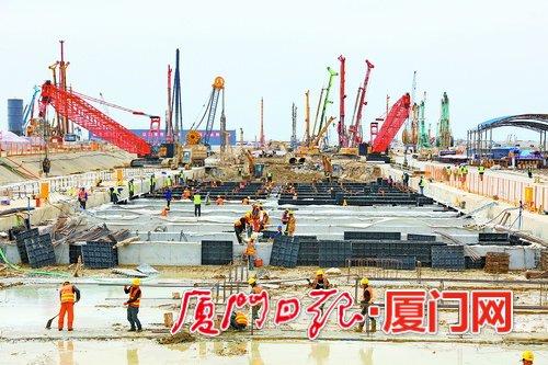 厦门新机场片区70多个项目全速推进