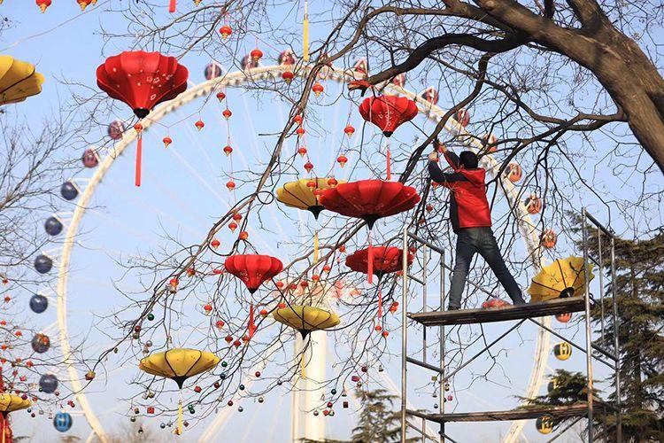 国庆彩车、冬奥倒计时牌将亮相石景山游乐园春节庙会图片