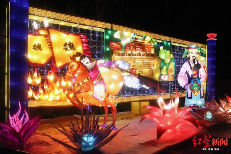 """首届""""会说话""""的三国国际灯会节 19日晚在南充开幕"""