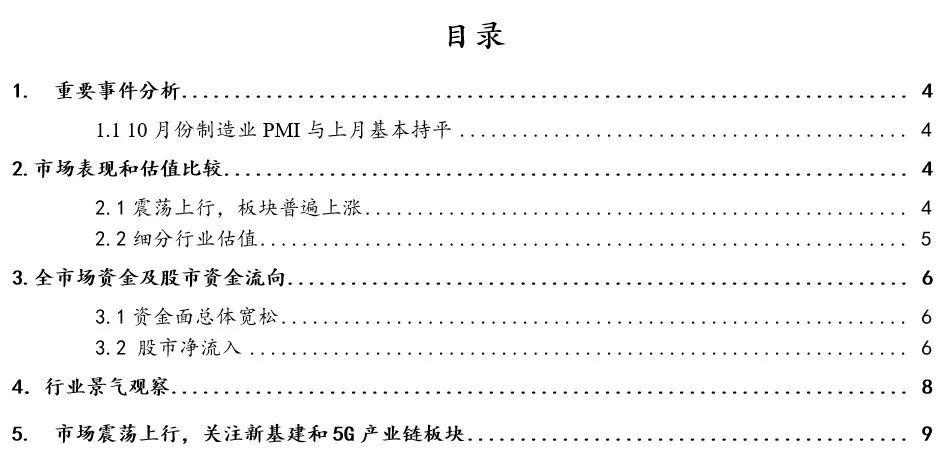 广证恒生-A股周策略-制造业PMI好于预期,市场震荡上行-20201109