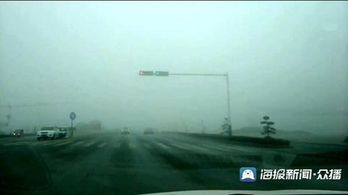 菏泽发布大雾橙色预警高速封闭部分路段能见度小于50米