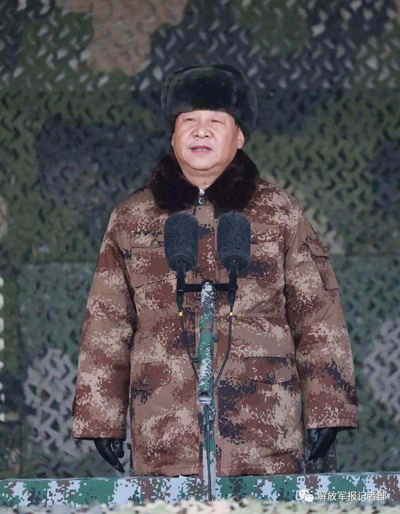 2018年1月3日上午,习近平向全军发布训令。