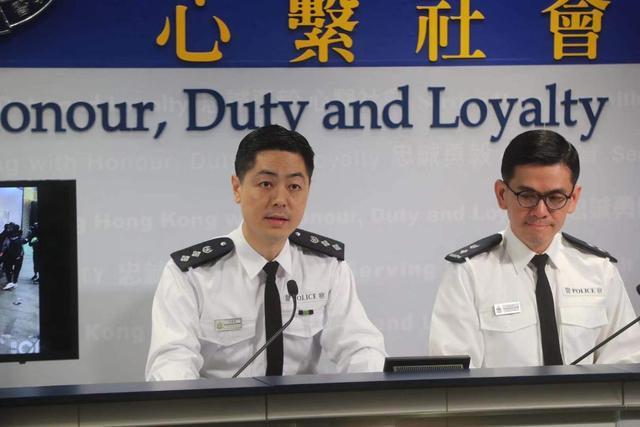 """在2020年第一场记者会上 港警发言人""""火力全开""""图片"""