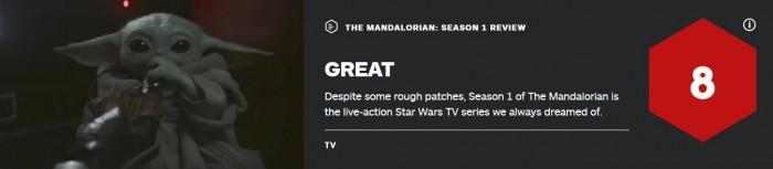 《曼达洛人》第一季IGN终评8分:大家梦想中的星战剧