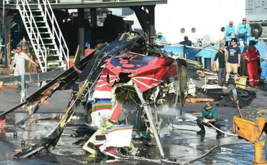 图为黑鹰直升机在兰屿失事造成6死(来源:台媒)