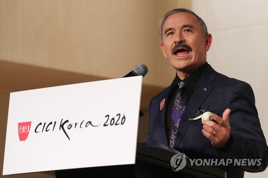 △美国驻韩大使哈里斯 图片来源:韩联社