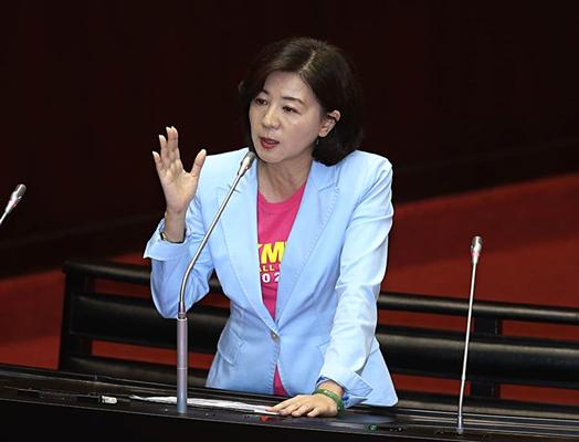 """国民党""""立委""""王育敏(图片来源:台湾""""中时电子报"""")"""