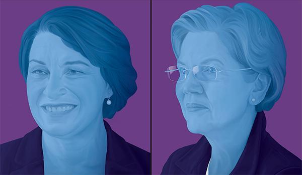 """美民主党总统候选人初选前,《纽约时报》为两名女性""""背书"""""""