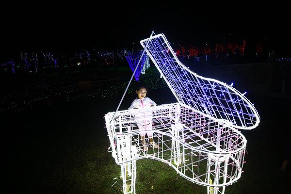 三亚海棠湾水稻国家公园迎春灯会18日亮灯 启灯首日迎来游客破万