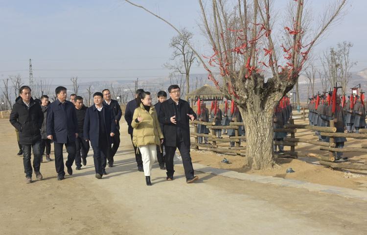 区长刘军调研姜女故里·秦人村落景区建设及运营情况