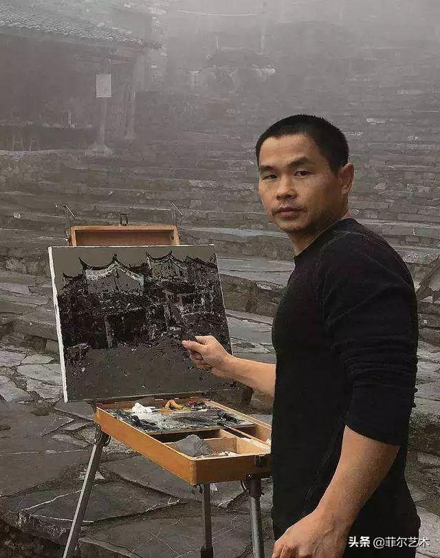 中国青年画家汪昌俞潮汕民居系列油画作品欣赏