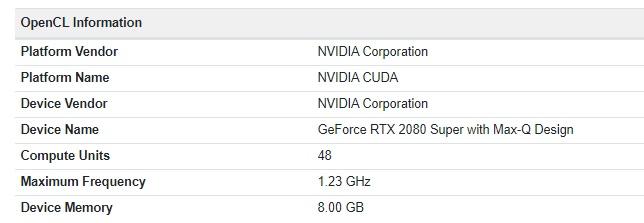 英伟达RTX 2080 Super笔记本显卡曝光,Max-Q设计只有80瓦