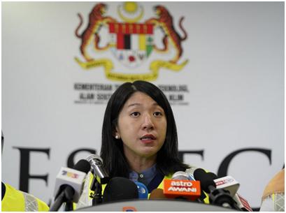 马来西亚环境部长杨美盈 图源:美联社