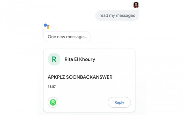 [图]Google Assistant升级:可读取WhatsApp等应用信息