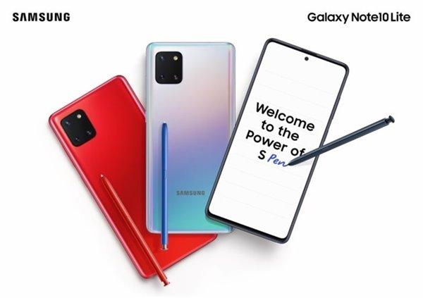 三星Galaxy Note10 Lite正式登陆印度:约3800元人民币