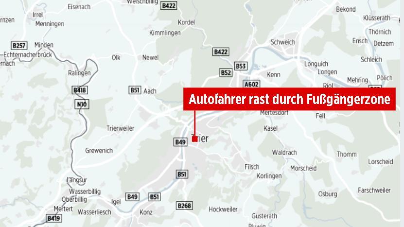 德国特里尔发生汽车冲撞致人死亡事件