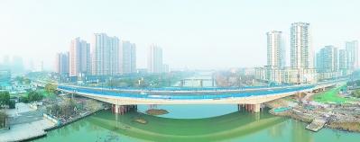 南京六合区龙津桥主线通车