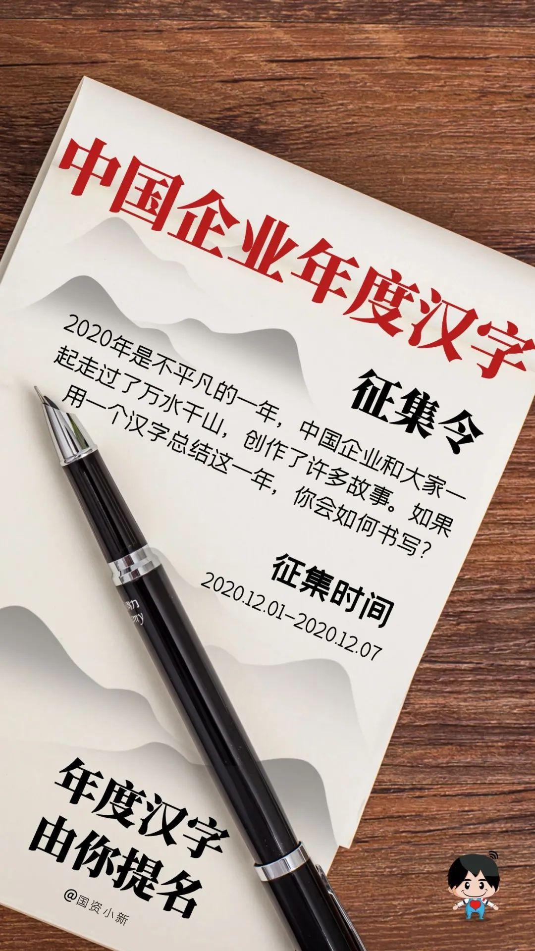 2020中国企业年度汉字,由你提名!