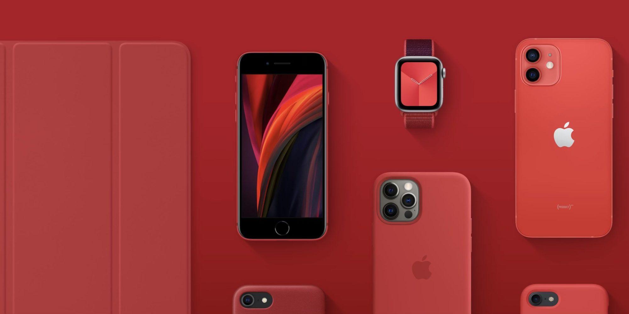 苹果主页变红 (RED) 收益100%用于应对COVID-19