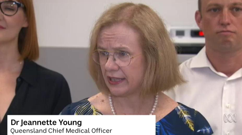 昆士兰首席医疗官珍妮特·扬医生,ABC视频截图
