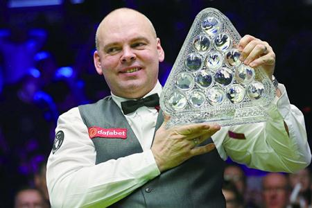 宾汉姆首夺 斯诺克大师赛冠军
