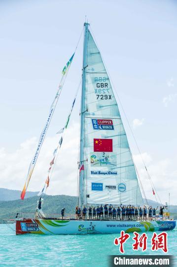 20环球帆船赛参赛船只奔赴海南三亚
