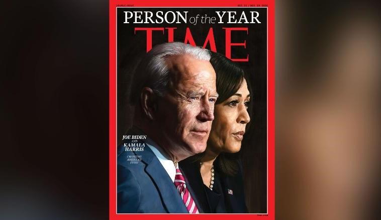 拜登和哈里斯成为时代周刊2020年度人物