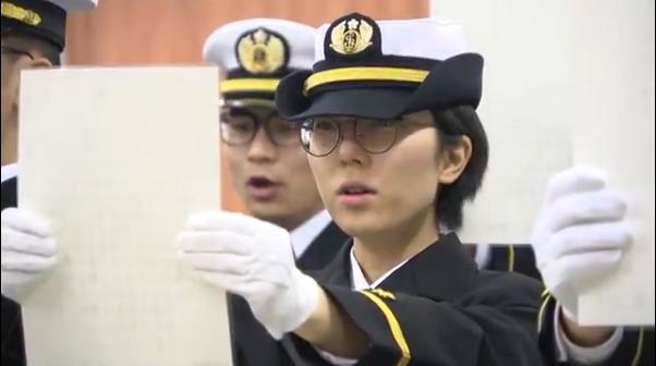 竹之内里咲参加宣誓(广岛电视台)