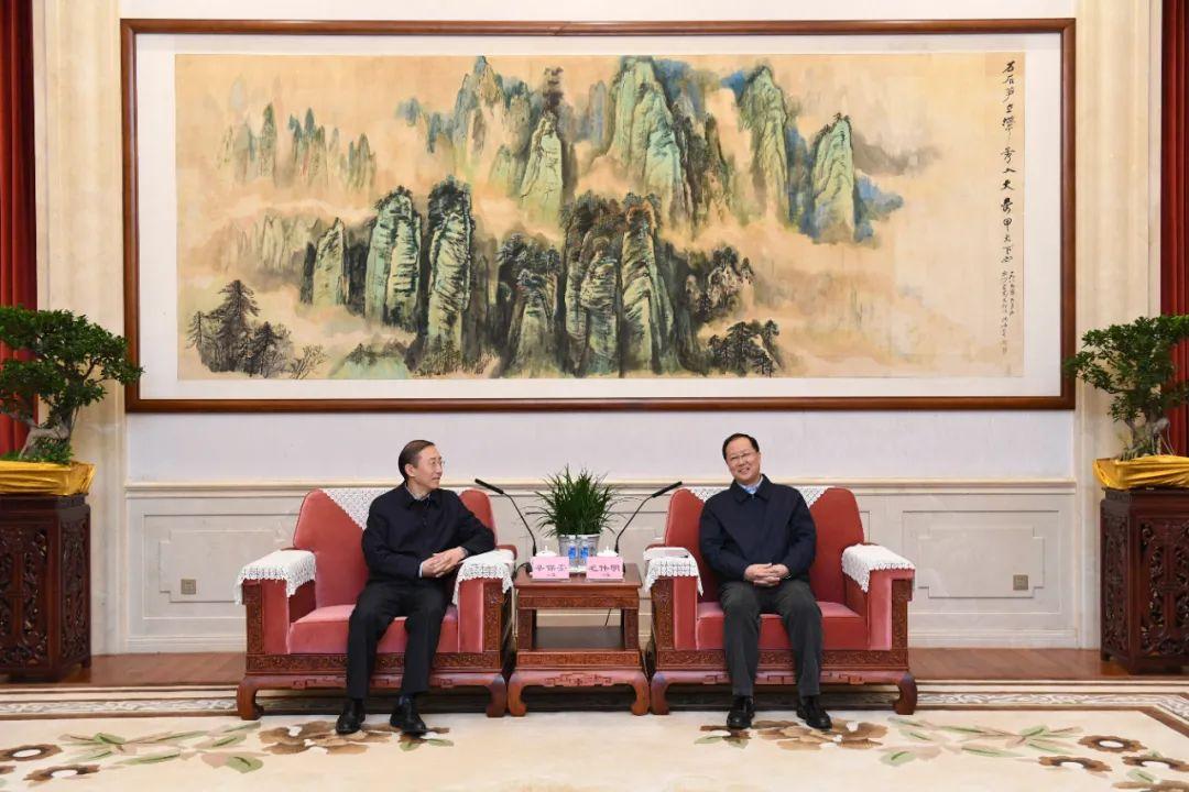 省政府与国网公司座谈 毛伟明辛保安出席图片