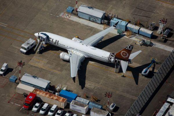 资料图:波音737 MAX飞机(新华社)