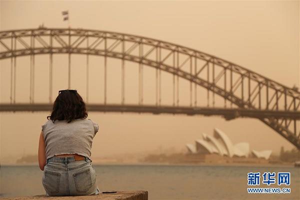 2019年11月12日,烟尘笼罩在澳大利亚悉尼上空。 新华社记者 白雪飞 摄