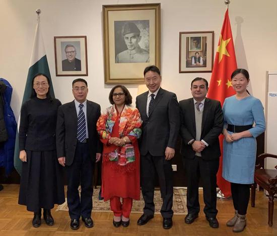中国高等教育学会一行同巴基斯坦驻华大使在京会谈