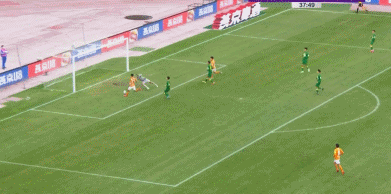 GIF:胡靖航传中助攻江子磊推射得分,卓尔3-0国安