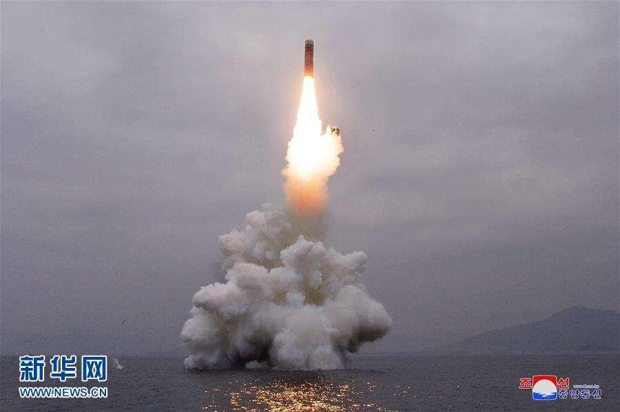 朝鲜去年发射的准战略武器,北极星-3潜射中程弹道导弹 图源:新华网