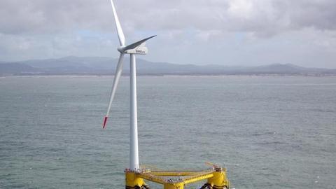 全球最大浮动式海上风电项目启动 为风力发电掀开新一页