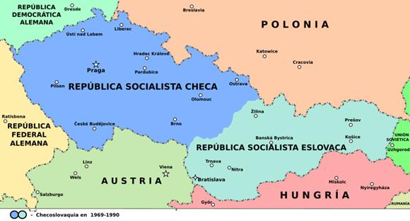1993年,捷克斯洛伐克分裂为捷克与斯洛伐克两个国家