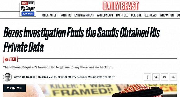 德贝克去年3月底在《The Daily Beast》上撰文 来源:截图