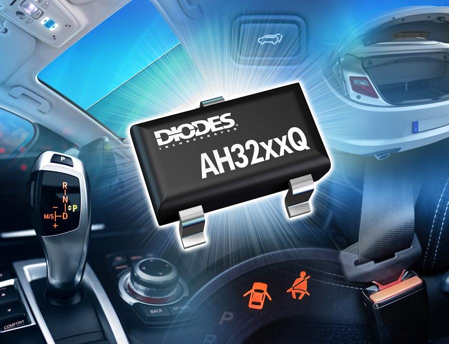 Diodes 公司推出符合汽车规格的双线霍尔效应切换器,具有自我诊断功能,可提供高灵敏度与稳定效能