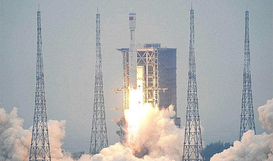 新一代运载火箭长征八号首飞成功图片