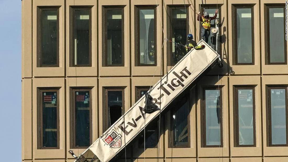 美国巴尔的摩一办公楼发生爆炸 至少21人受伤
