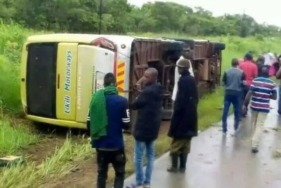 赞比亚中央省发生一起严重交通事故 致5死55伤