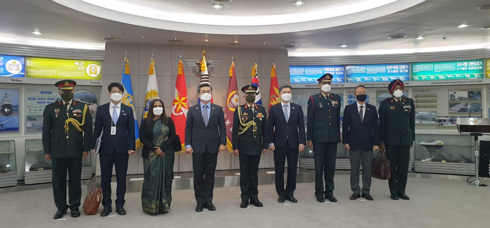 """印陆军参谋长首次访韩,中国又""""被""""出镜了图片"""
