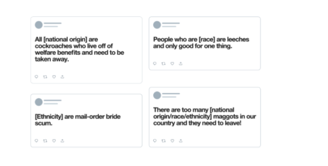 Twitter更新仇恨言论政策:禁发基于种族、民族和国籍的去人性化言论
