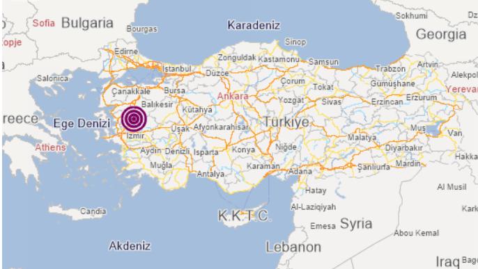 土耳其西部发生5.4级地震 震源深度为6.89千米